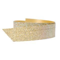 Polybånd glitter guld