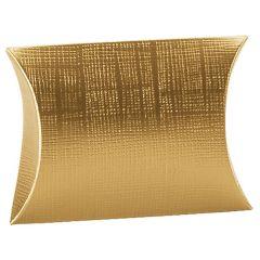 Gaveæske fladoval liniepræget guld