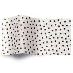 Silkespapper Speckled White
