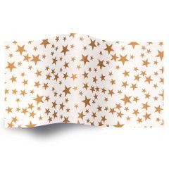 Silkespapper Metall Guldstjärna