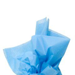 Farvet silkespapir havblå