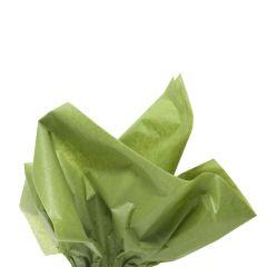 Farvet silkespapir mosgrøn
