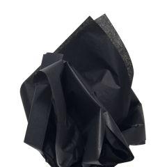 Farvet silkespapir sort