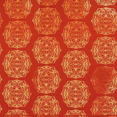 Gavepapir Polygon Rød