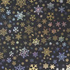 Gavepapir Black golden stars