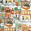 Gavepapir Christmas in town