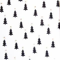Gavepapir Black & white christmas