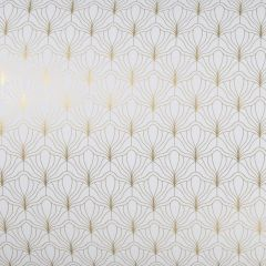 Gavepapir Modern white/gold FSC