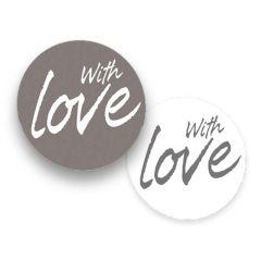 """Etiket rund """" With Love"""""""