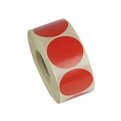 Etiket rund rød