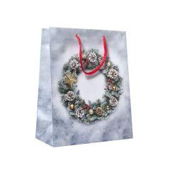 Papirspose Christmas wreath