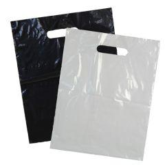 Plastbaerepose med udstanset handtag sort