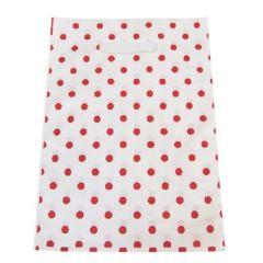 Plastikpose rød prikket
