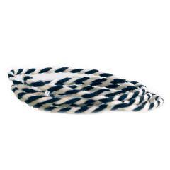 Tekstilsnor 2-farvet sort/hvid