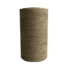 Tekstilsnor 2-farvet brun/hvid