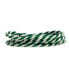 Tekstilsnor 2-farvet grøn/hvid