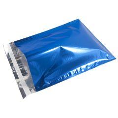 Blå metallic e-handelspose med håndtag