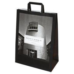 Papirbærepose med flade håndtag